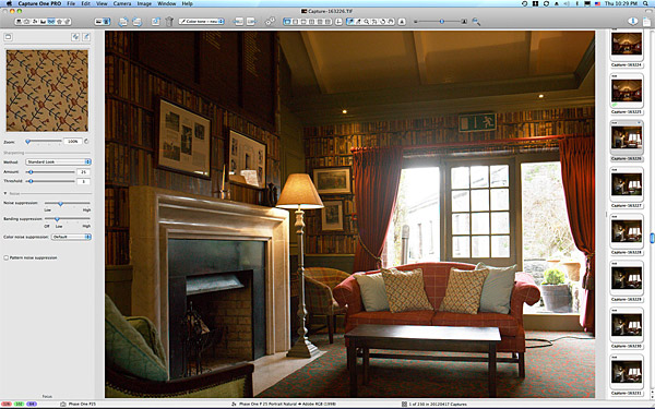First image taken at the Library at the Club house in Dromoland Castle