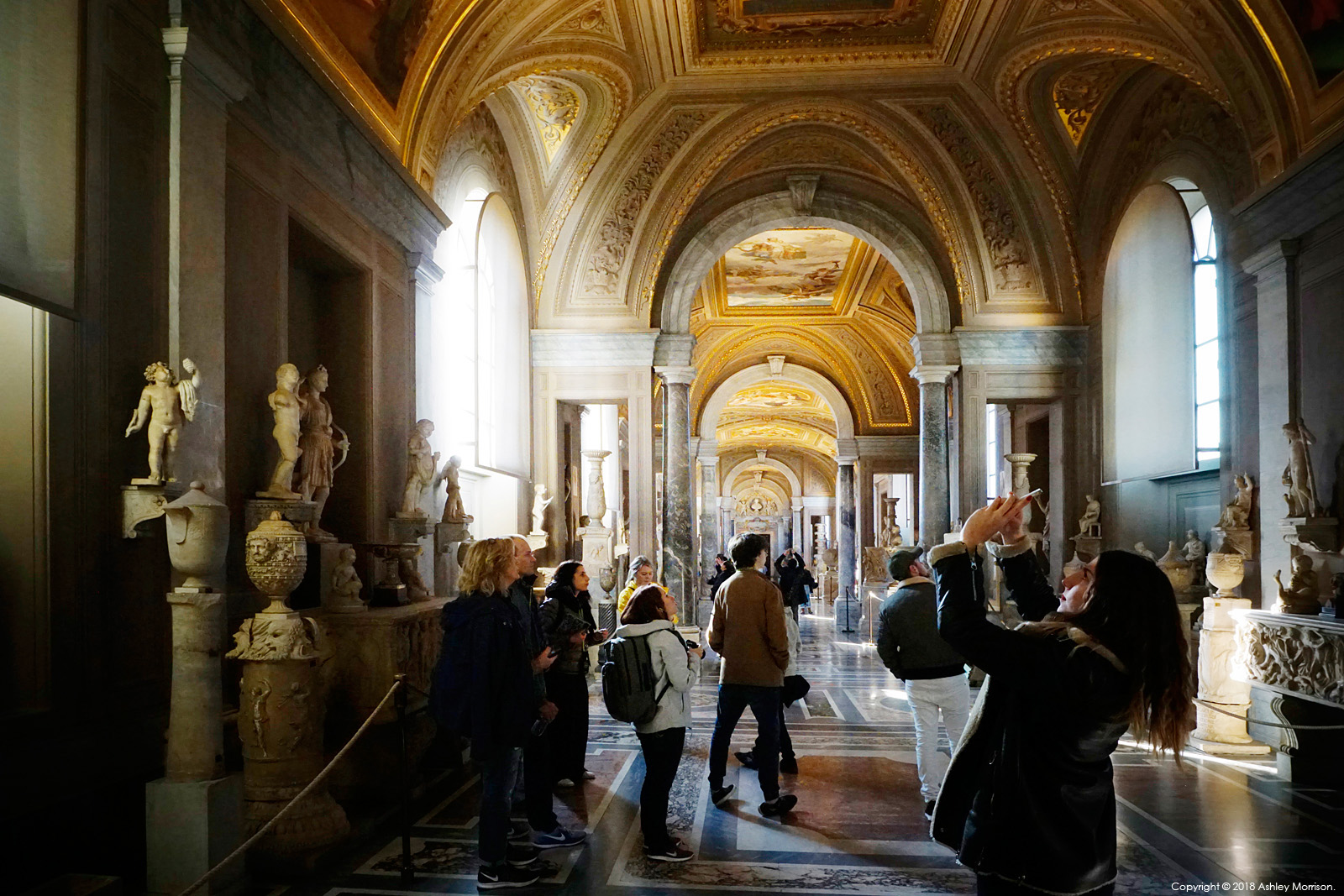 The Gallery of the Candelabra in the Vatican Museums.