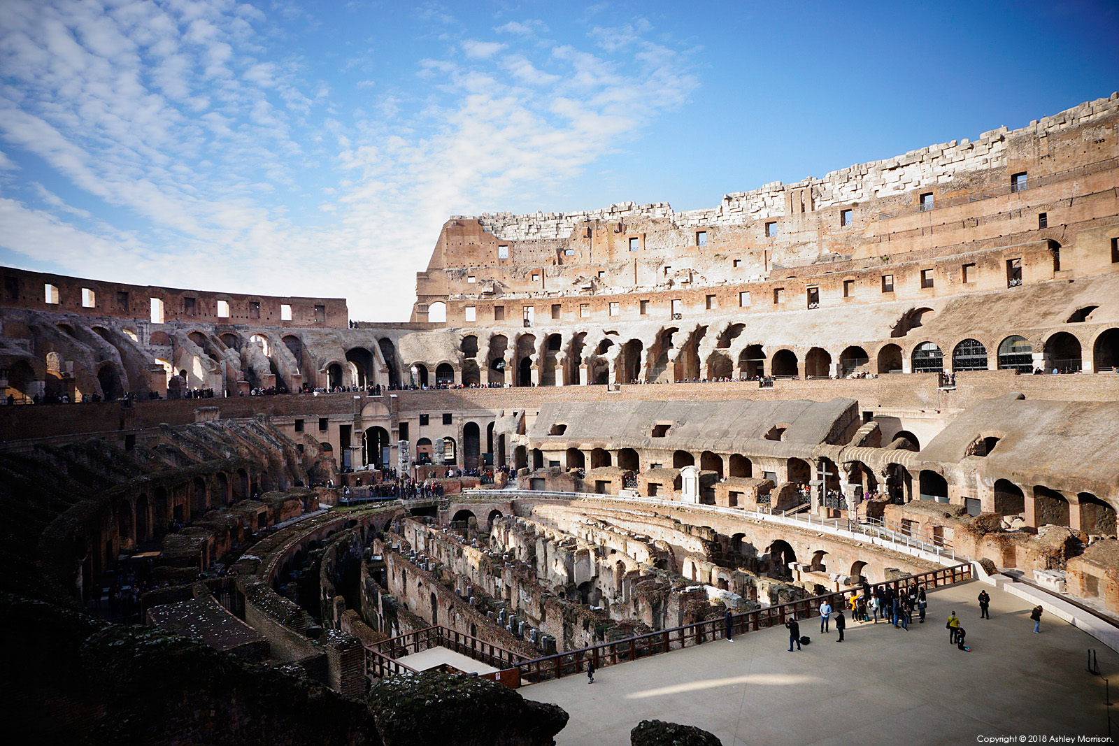The Colosseum or Coliseum, also known as the Flavian Amphitheatre.