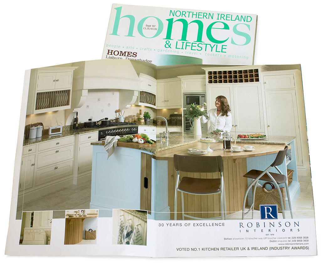 double page spread ad by robinson interiors in the september 2007