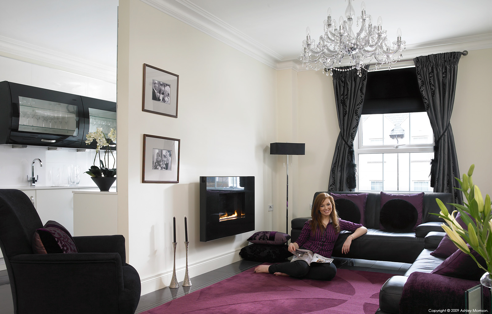 Natalie Abusow in her first floor apartment outside Lisburn in County Down by Ashley Morrison.