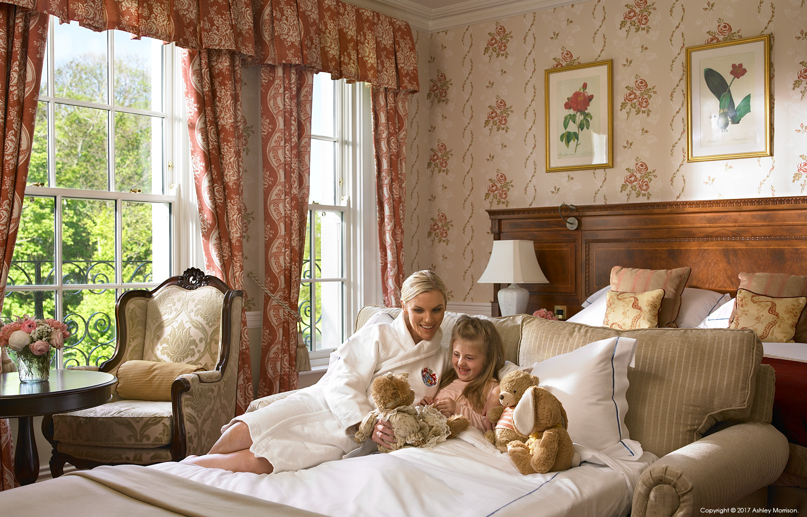 Family Accommodation in the Liffey Deluxe bedroom at the Kildare Hotel Spa & Country Club in County Kildare.