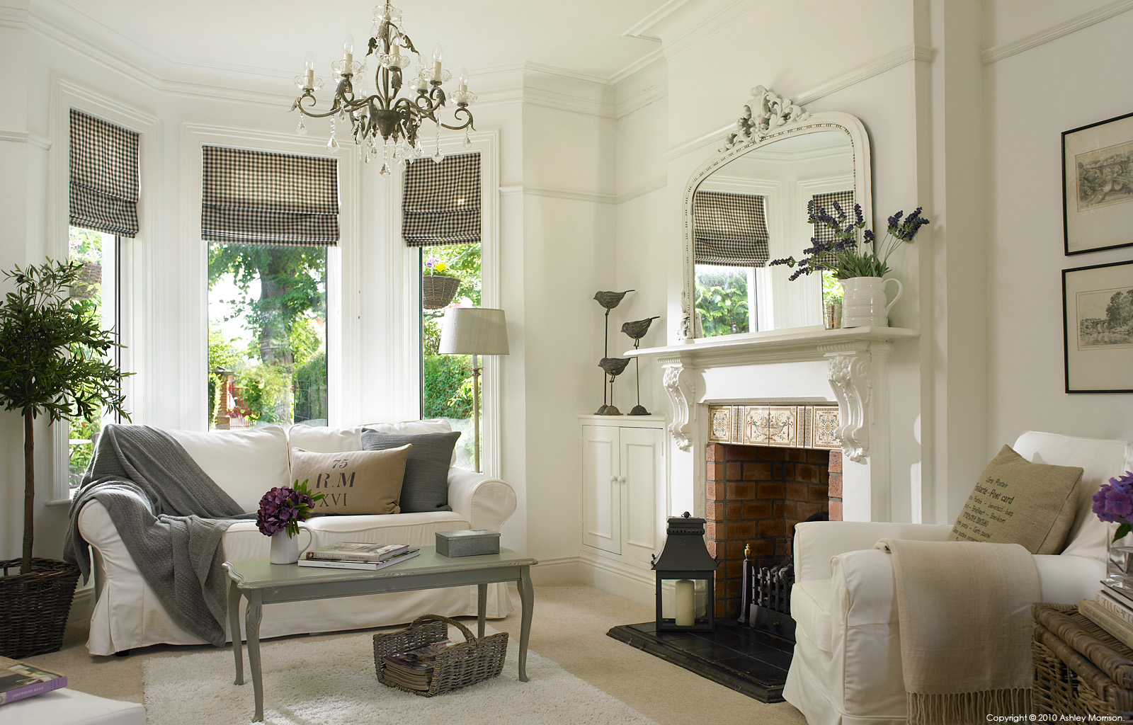 The living room in Marie and Alan McMillen's 1920's semi detached house in the tree-lined Cherryvalley area of Belfast.