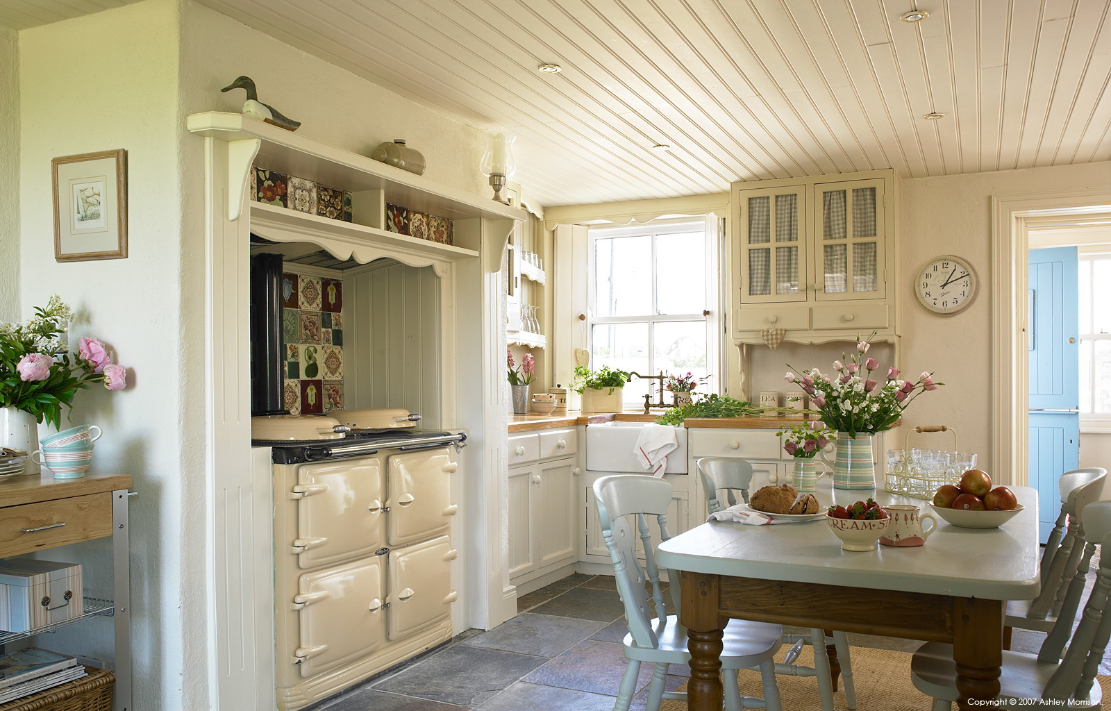 Kitchen in a thatched cottage located near Portaferry in County Down by Ashley Morrison.