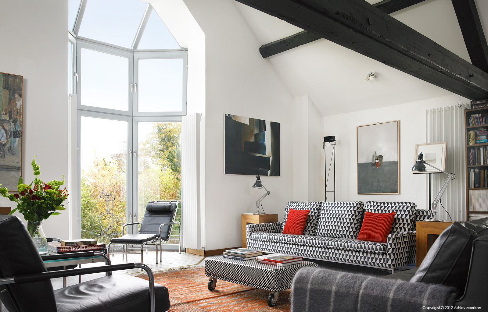 The living room in John Baird's converted Cornmill near Comber in County Down by Ashley Morrison.