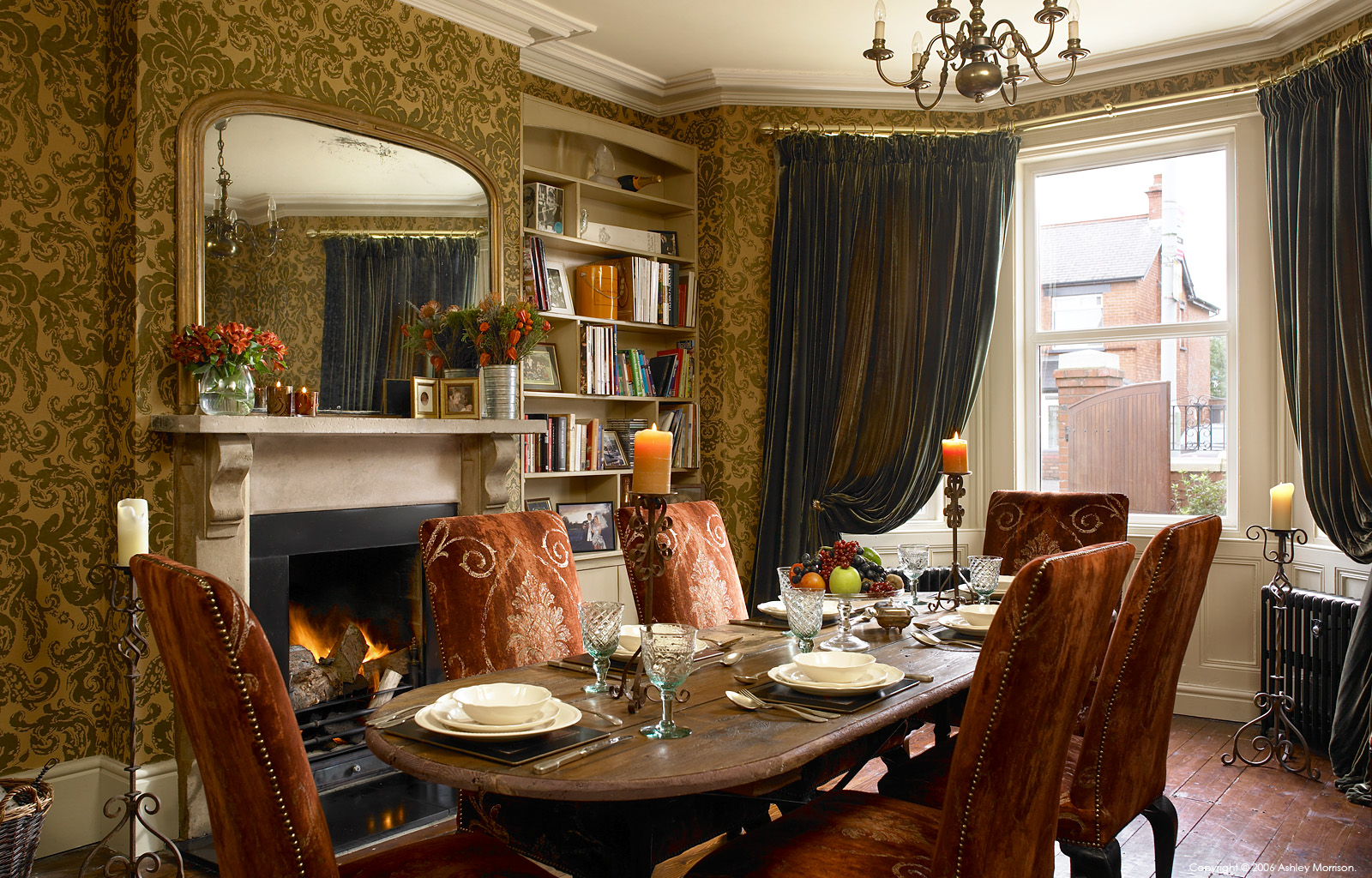 The dining room in diane and kieran rice 39 s edwardian detached house in belfast - Edwardian house interior ...