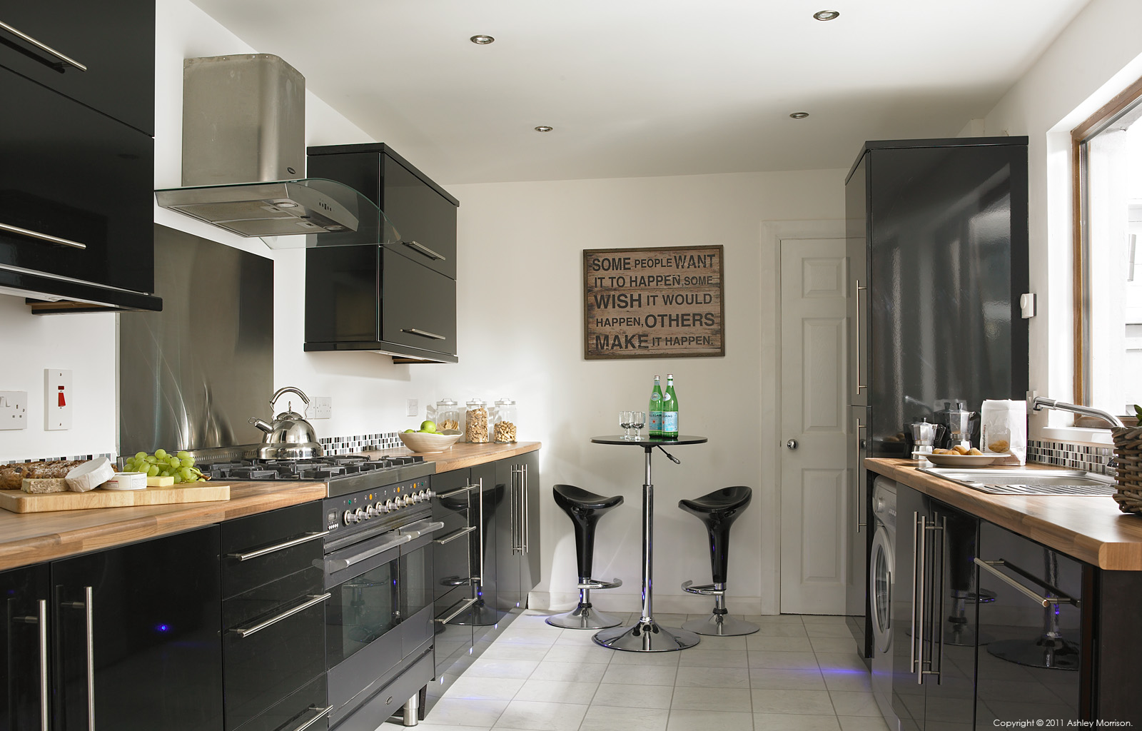 The kitchen in Janice & Billy Shannon's renovated three storey Edwardian mid terrace in Belfast.