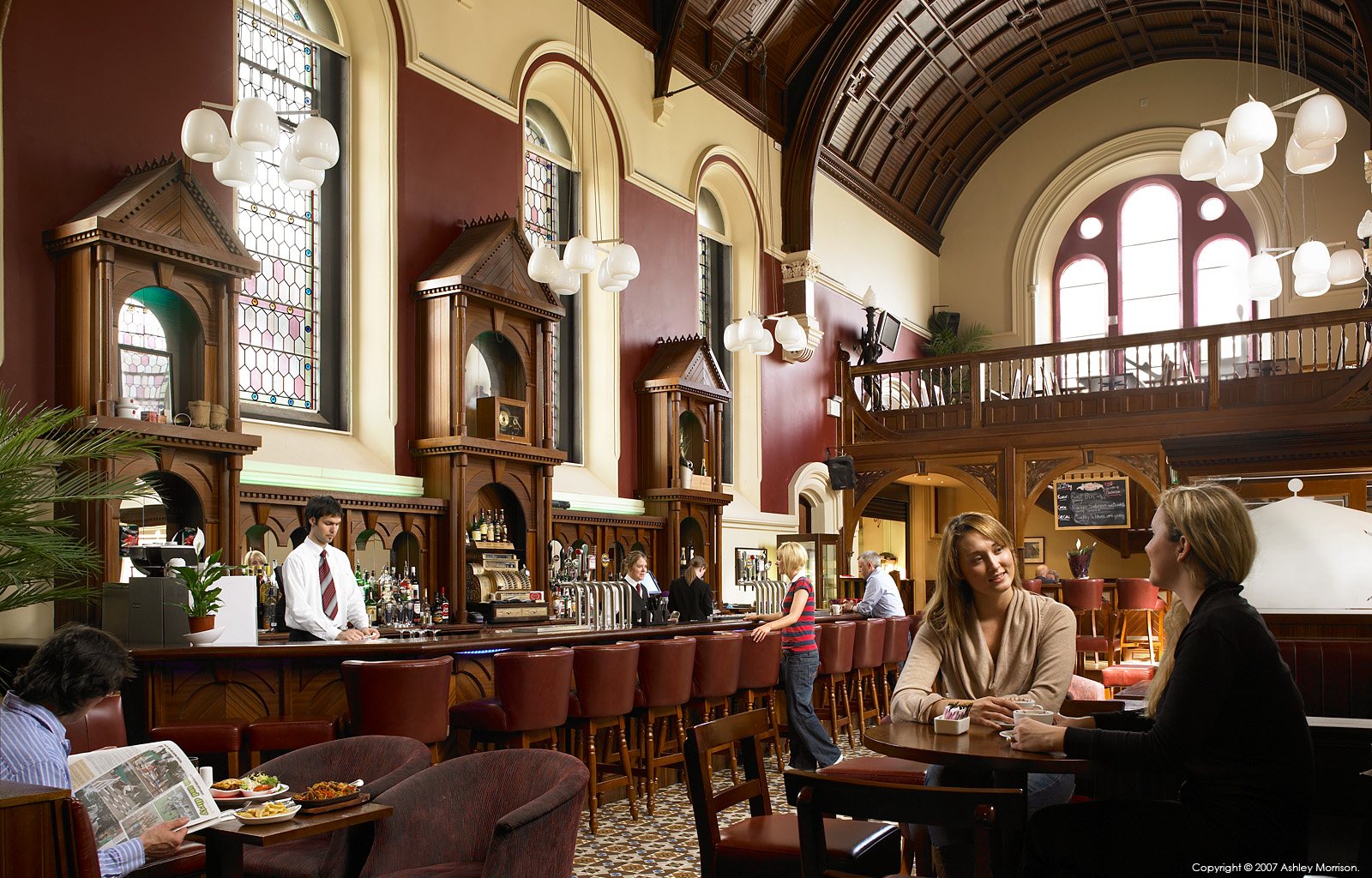The chapel bar at the Carlton Abbey Hotel in County Kildare by Ashley Morrison.