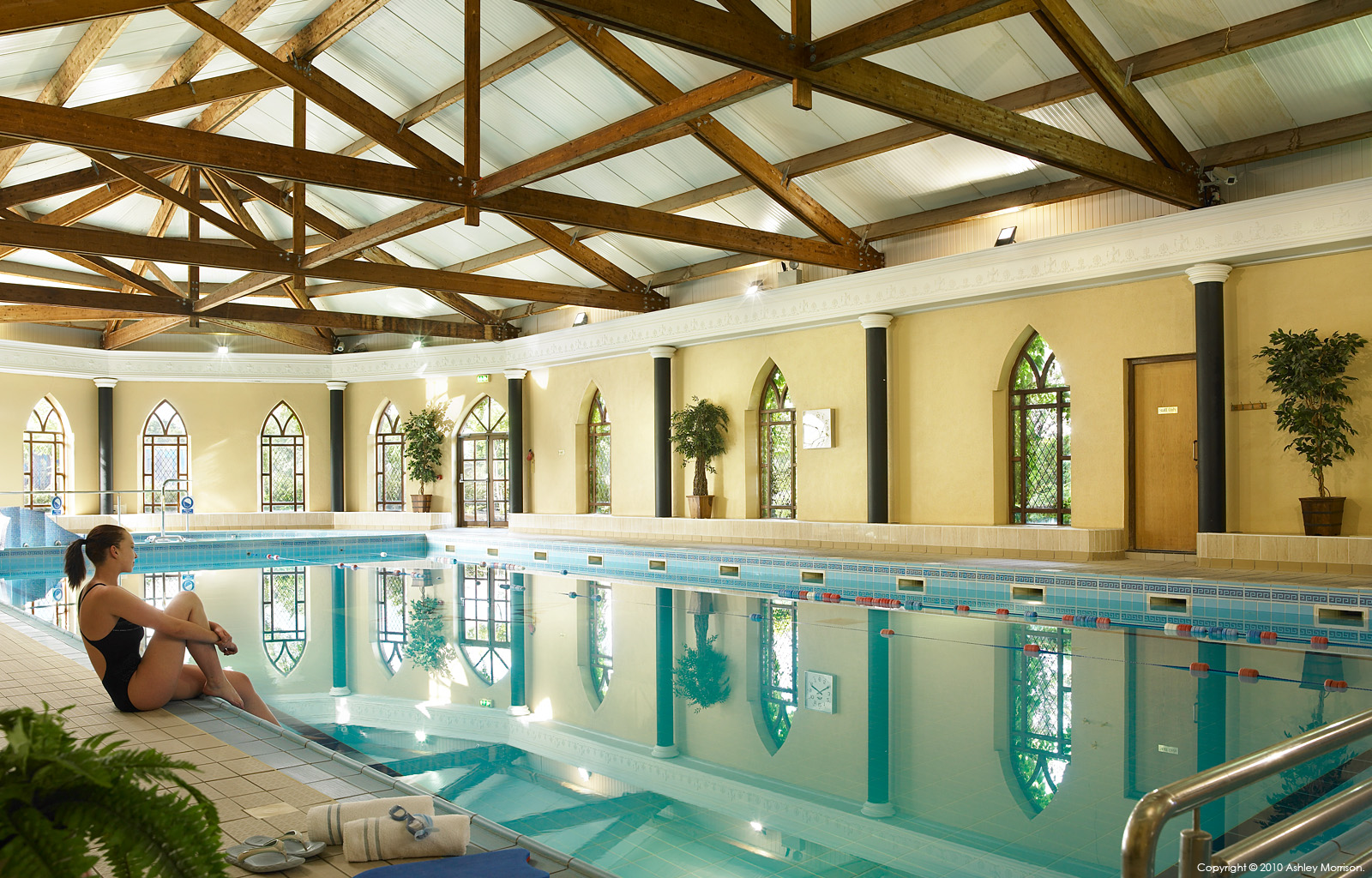 Sitting By The Pool At Abbey Court Hotel Near Nenagh In County Tipperary Ashley
