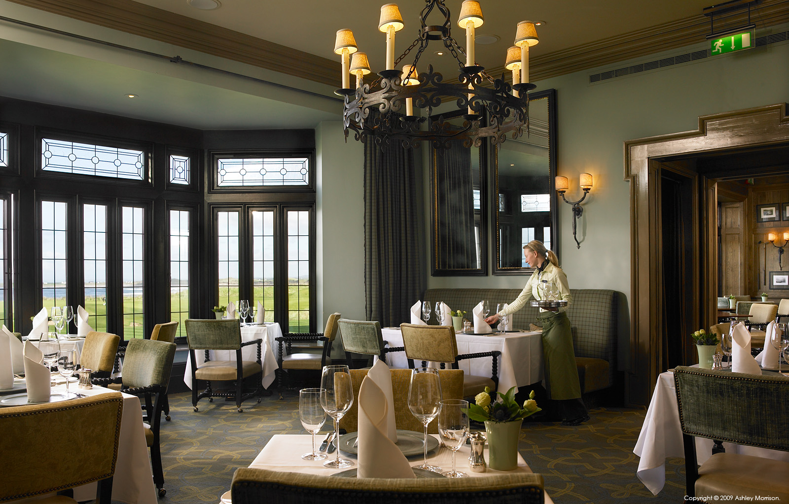 Ocean View Restaurant in the Lodge at the Trump International Golf Links & Hotel in County Clare.