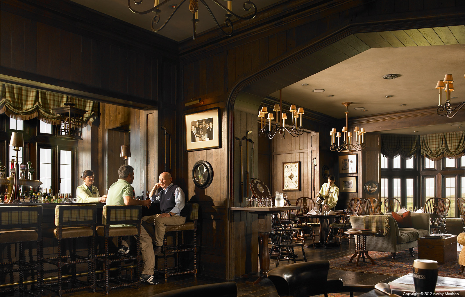 The bar in the Member's Clubhouse at the Trump International Golf Links & Hotel in County Clare.