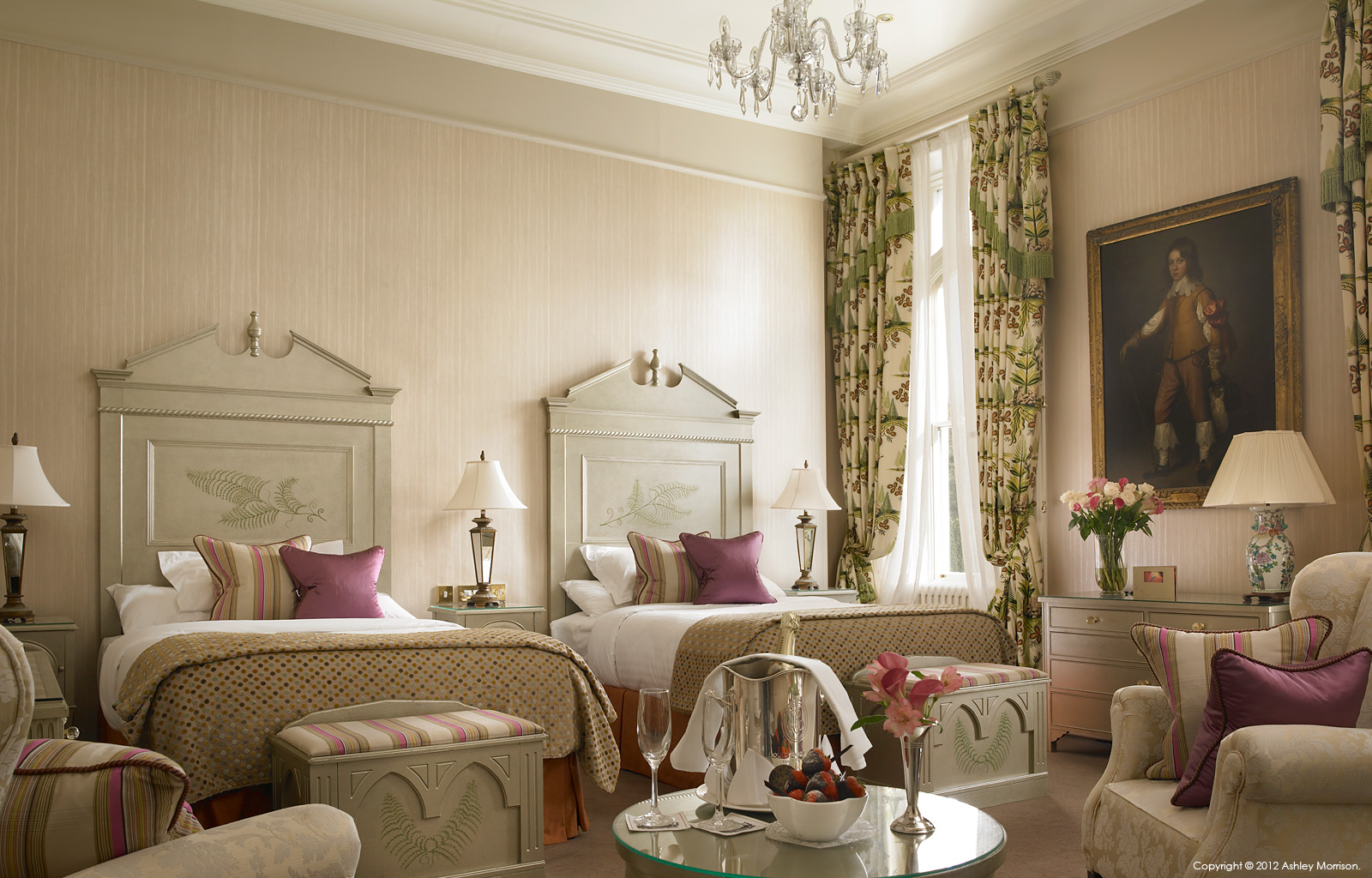 Bedroom suite at Dromoland Castle in County Clare by Ashley Morrison.