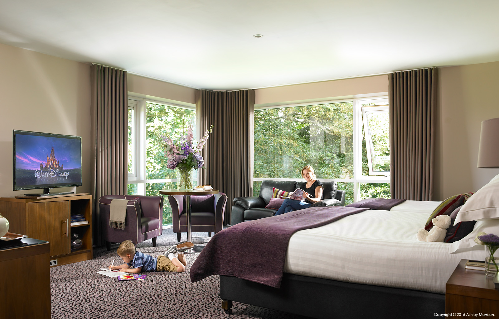 Family bedroom at Dunboyne Castle Hotel & Spa in County Meath.