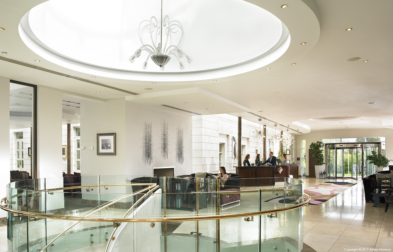 The Lobby & Reception area at Dunboyne Castle Hotel & Spa in County Meath.