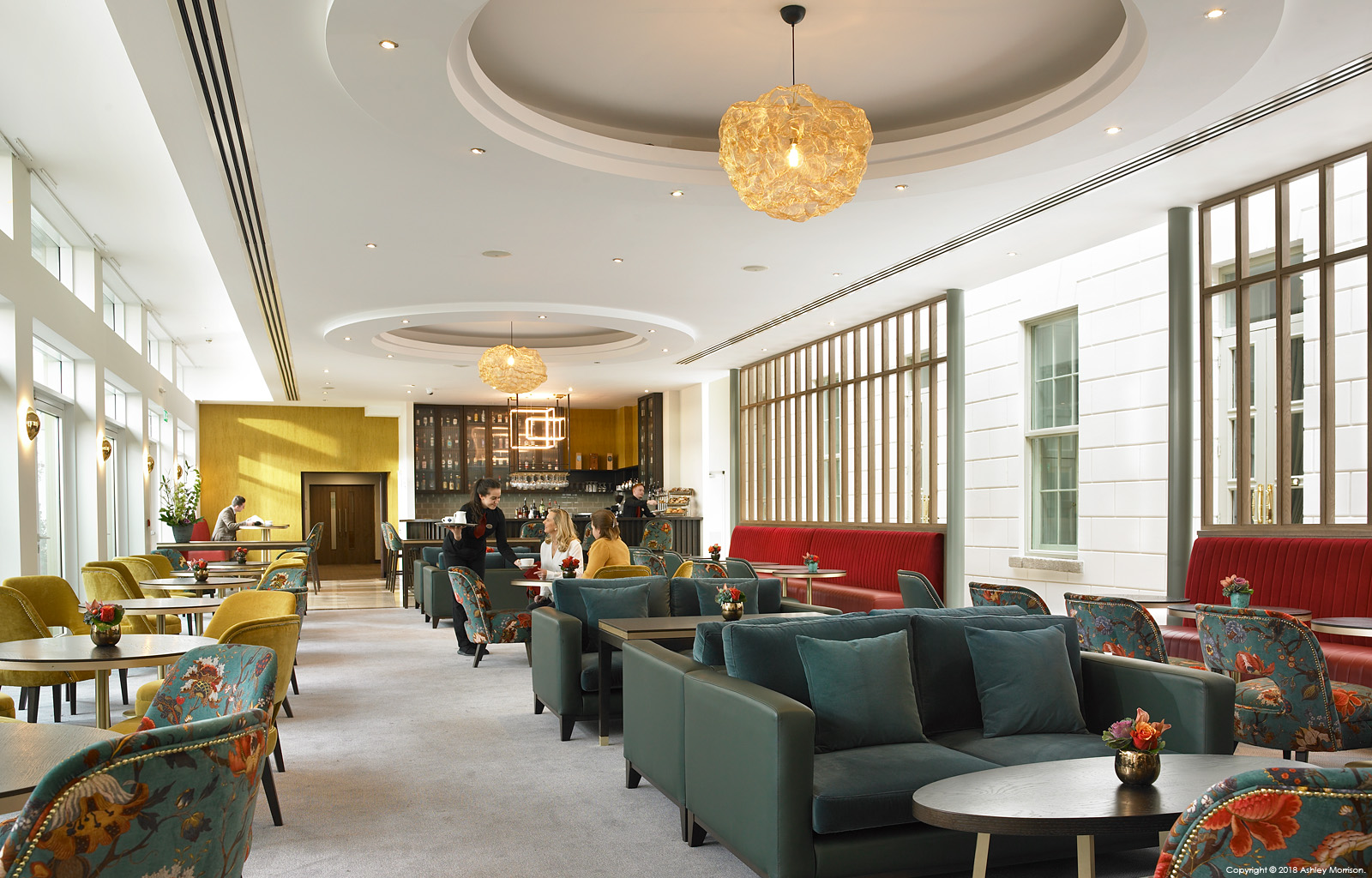 The lounge bar area at Dunboyne Castle Hotel & Spa in County Meath.