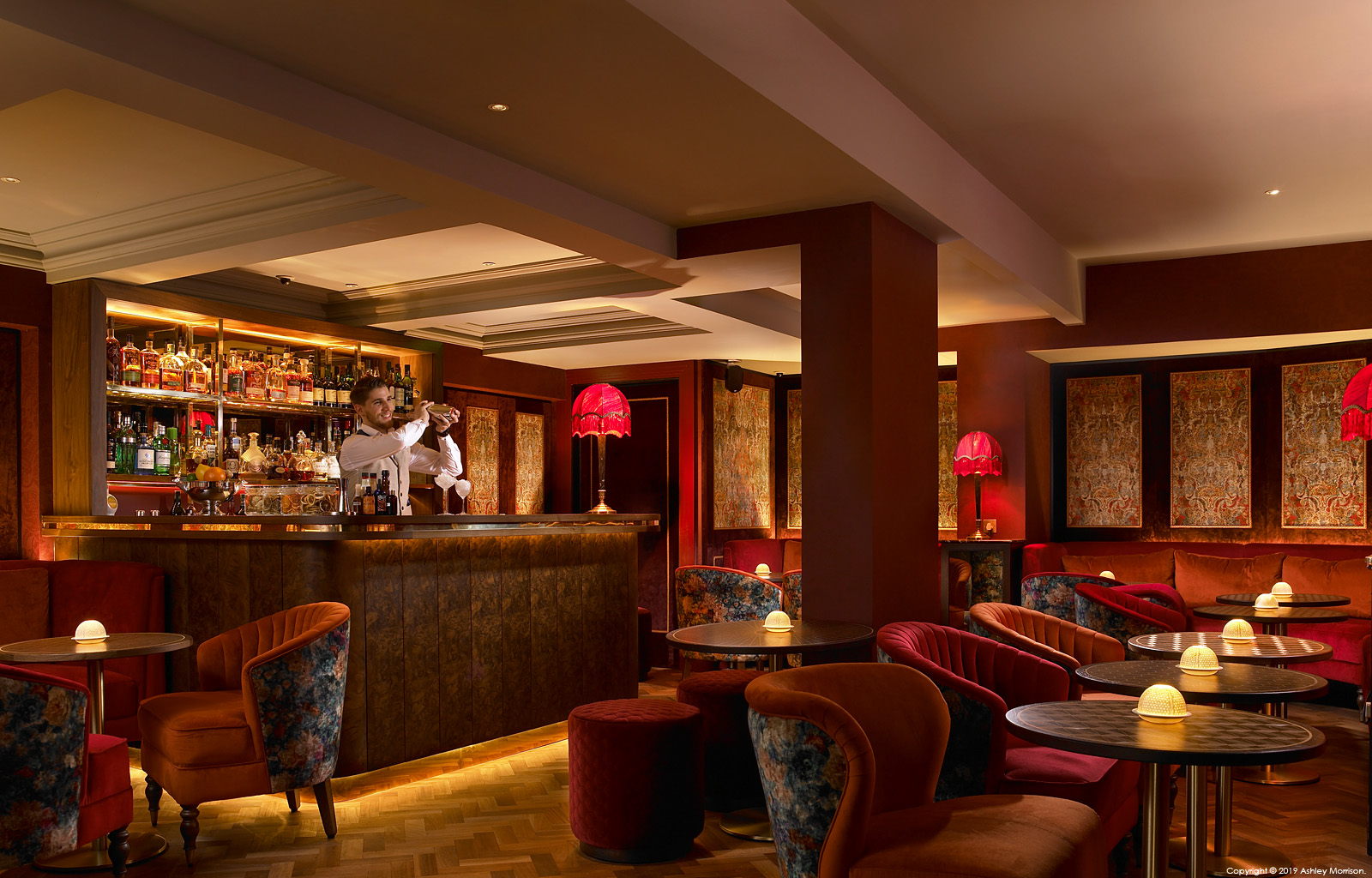 The Ruby Room Bar in the Dylan Hotel which is Dublin's leading five star boutique hotel.
