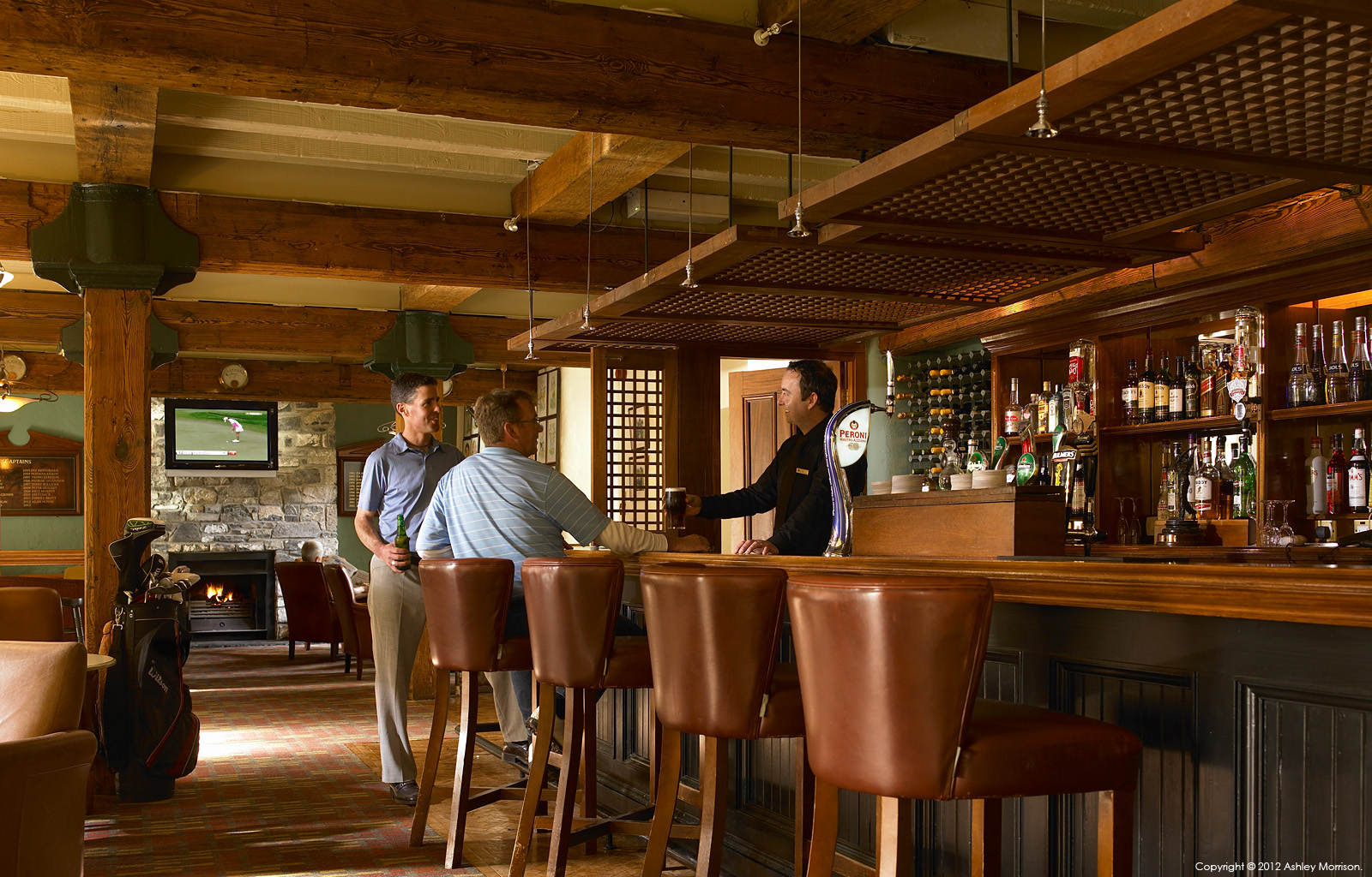 The Spike bar in the Clubhouse at Mount Juliet Country Estate in County Kilkenny by Ashley Morrison.