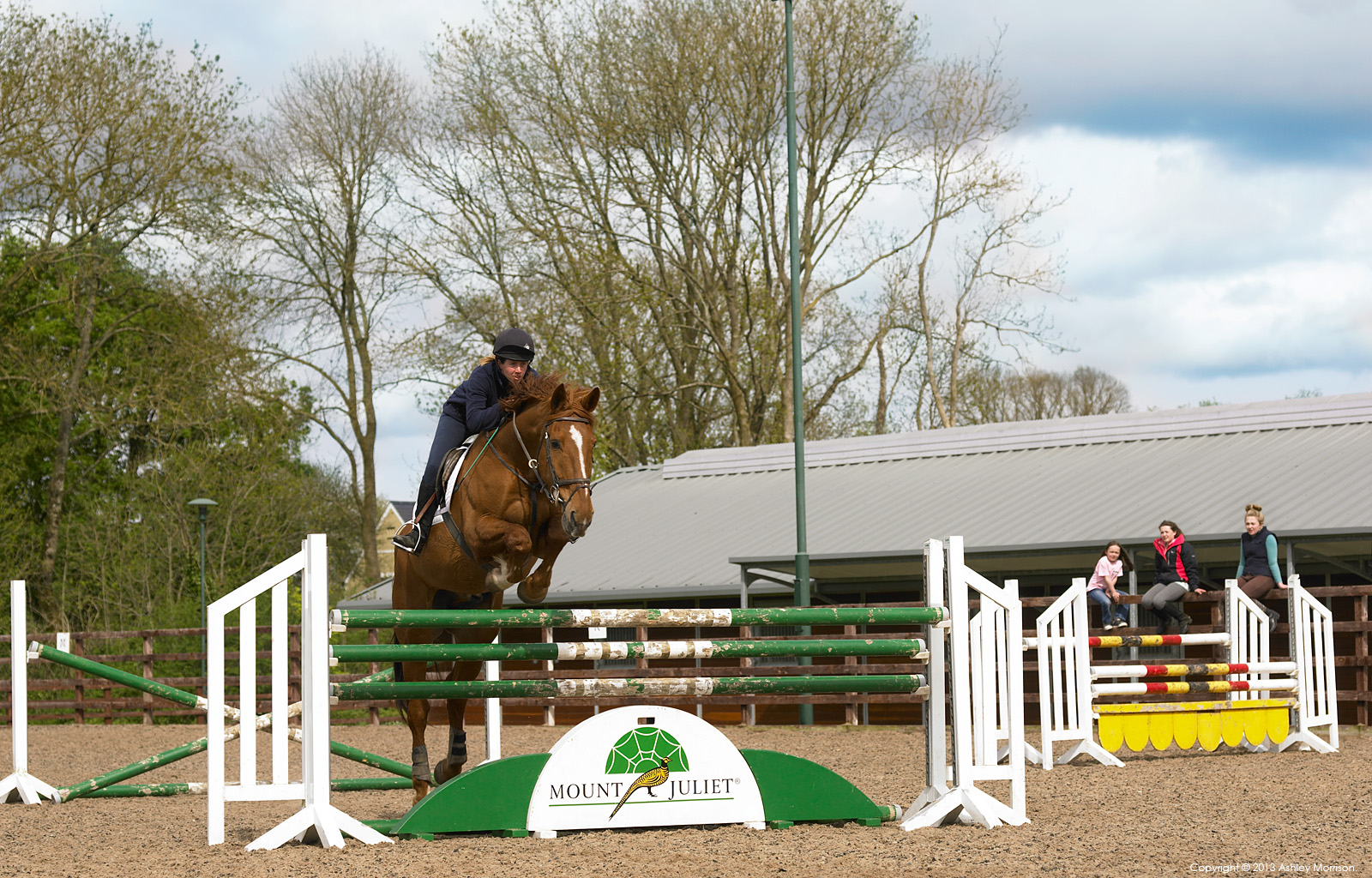 Horse jumping at Mount Juliet Country Estate's Equestrian Centre in County Kilkenny.