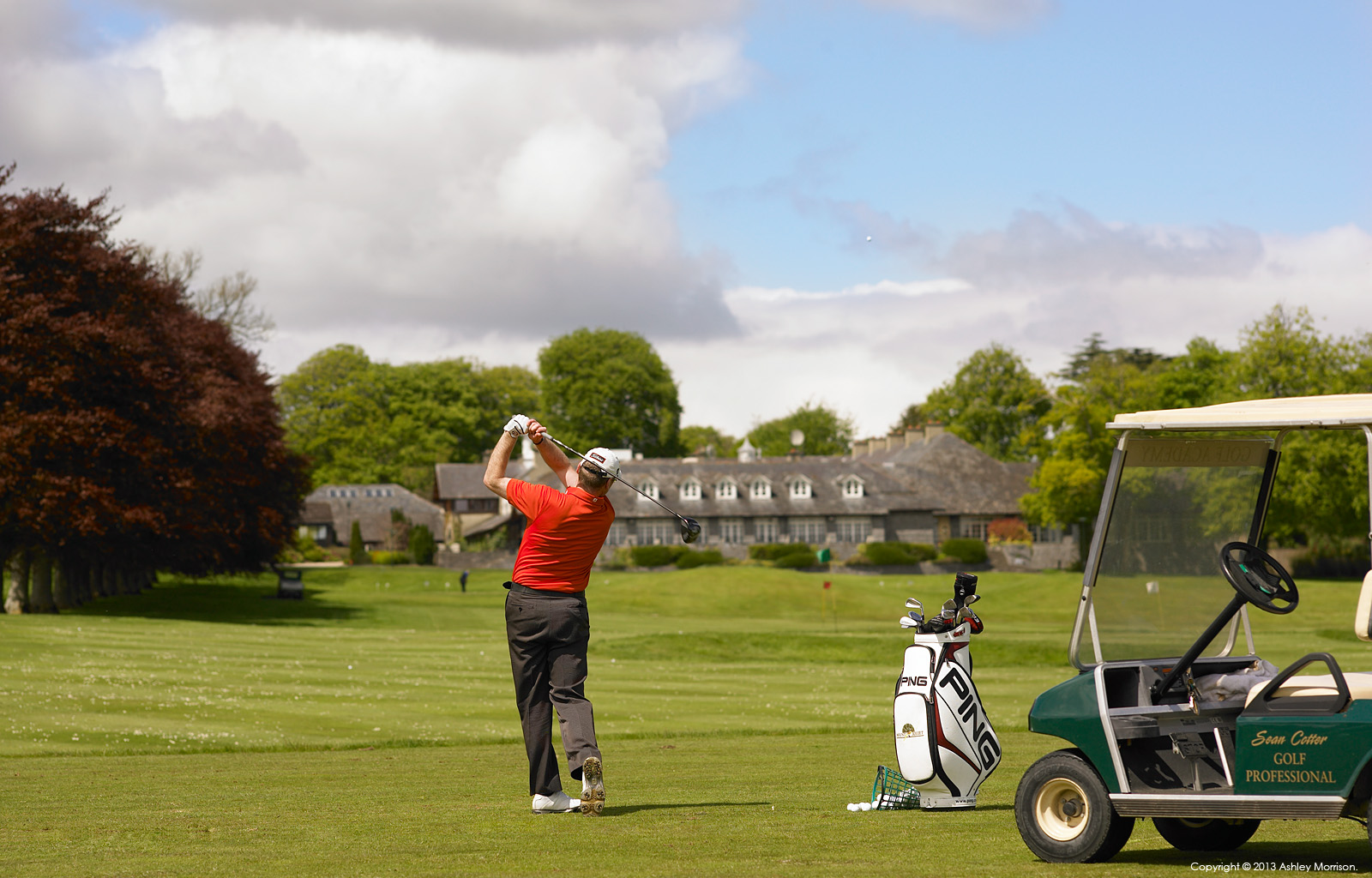 Sean Cotter the Golf Professional at Mount Juliet Country Estate in County Kilkenny by Ashley Morrison.