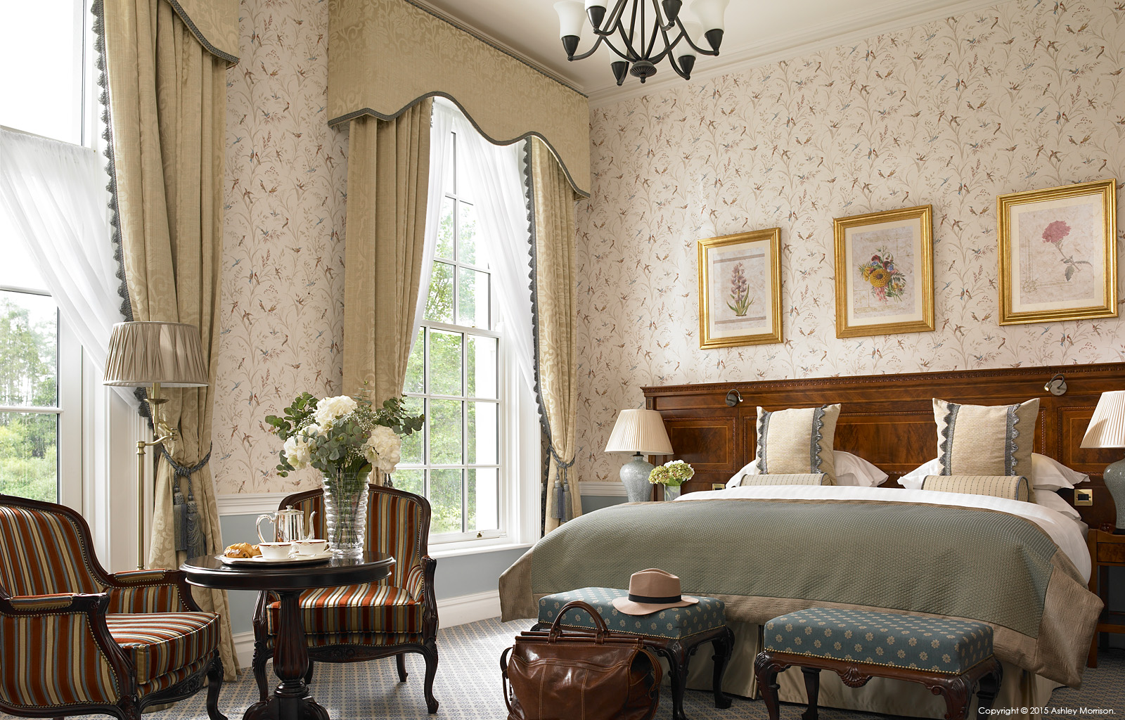 Liffey Deluxe bedroom at the Kildare Hotel Spa & Golf Club near Straffan in County Kildare.