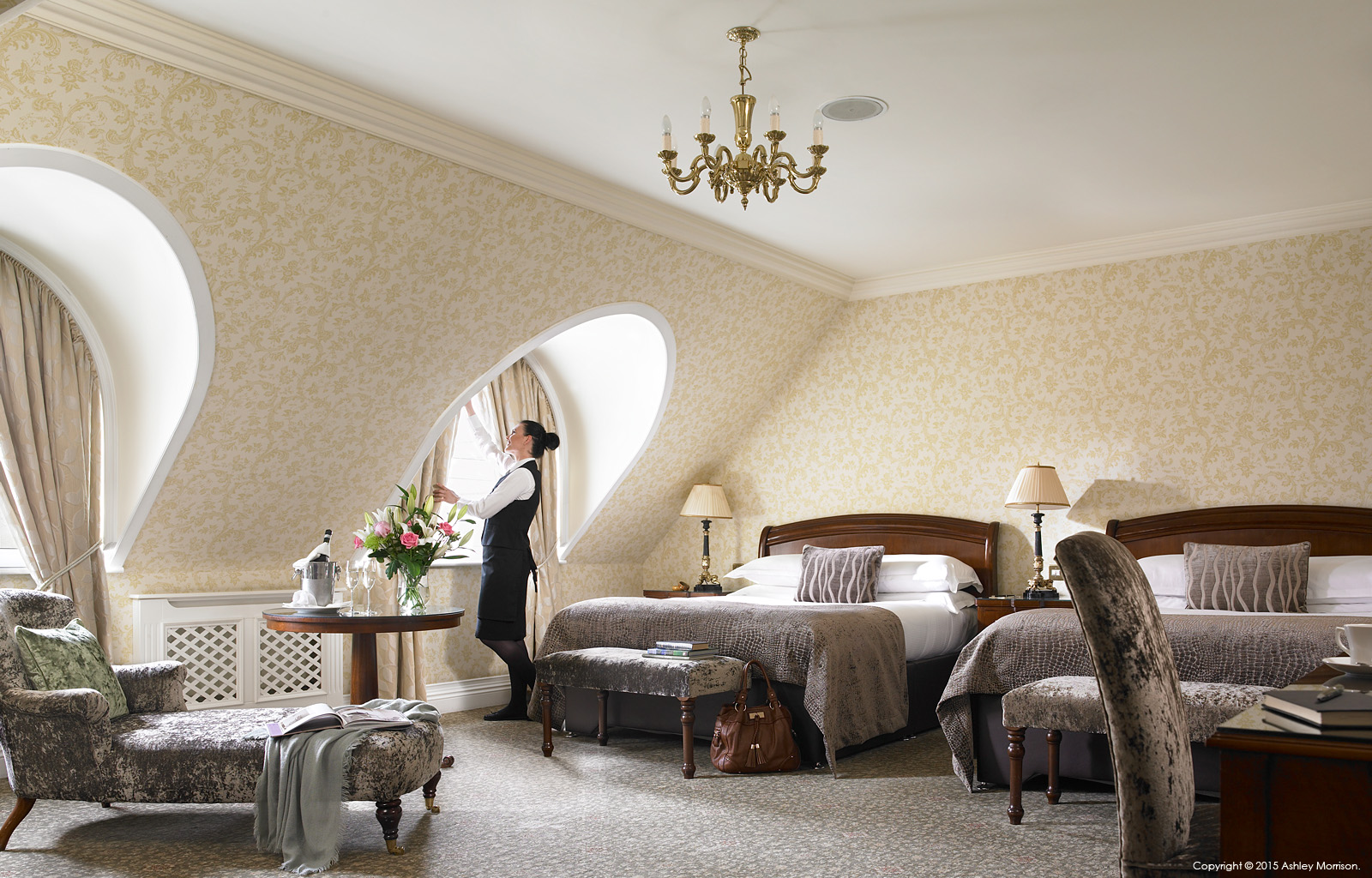 Superior bedroom suite at Killarney Park Hotel in the Irish county of Kerry.