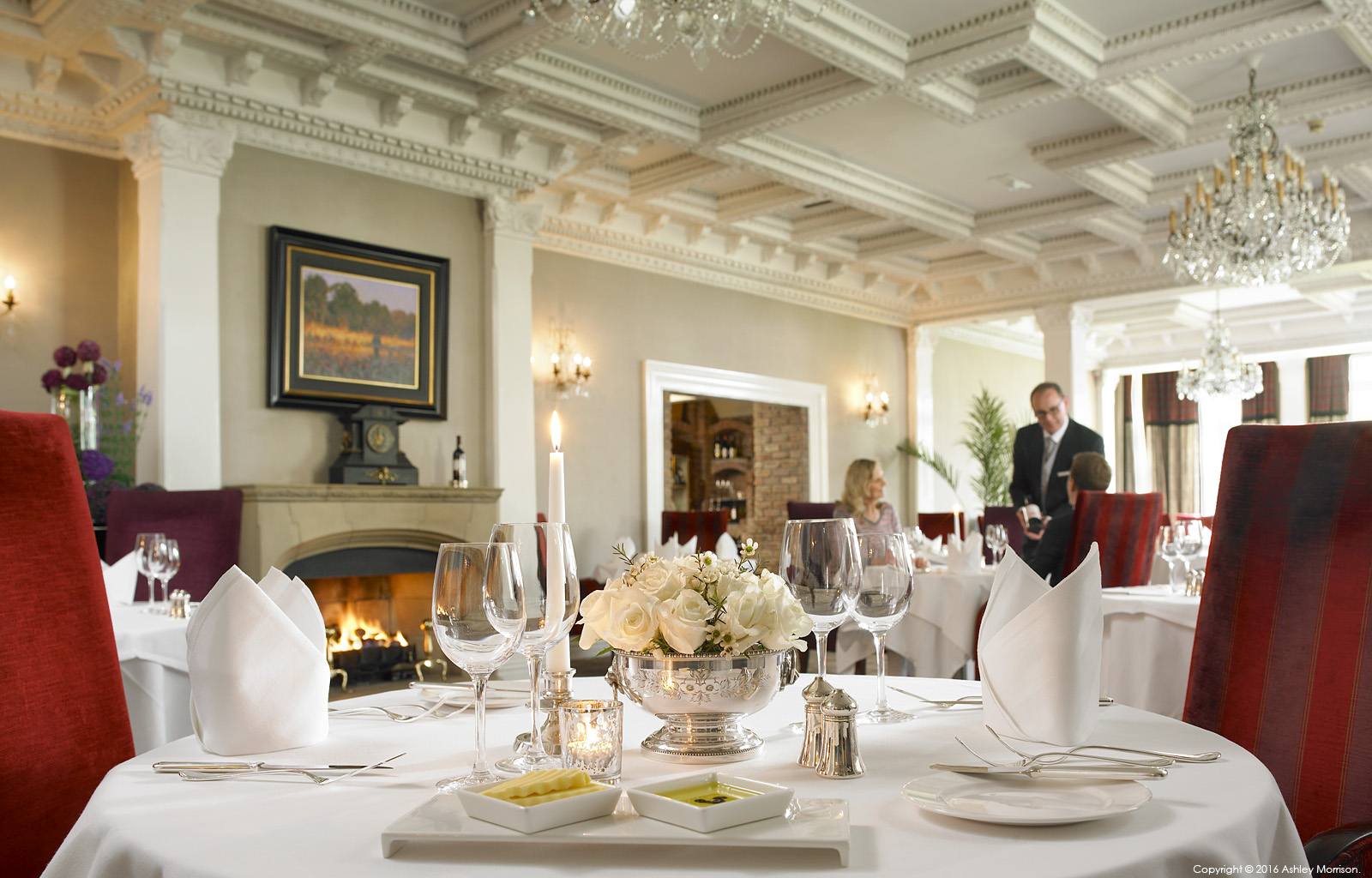The Park Restaurant dining room at Killarney Park Hotel in the Irish County of Kerry.
