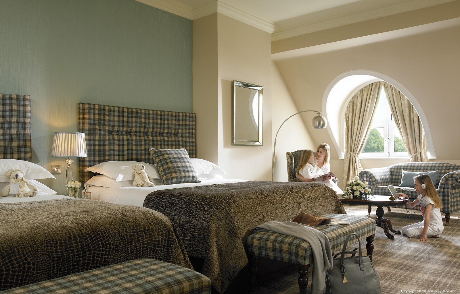 The Deluxe family room at Killarney Park Hotel in the Irish County of Kerry