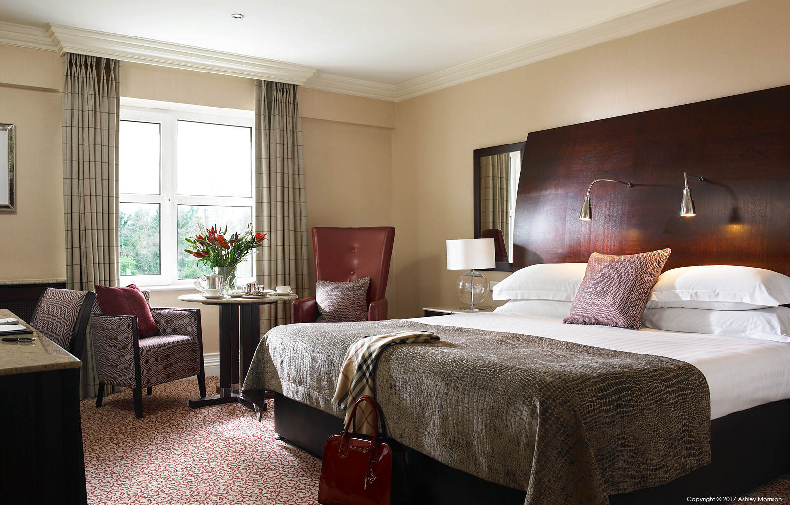 Classic King bedroom in the Killarney Park Hotel in the Irish County of Kerry.
