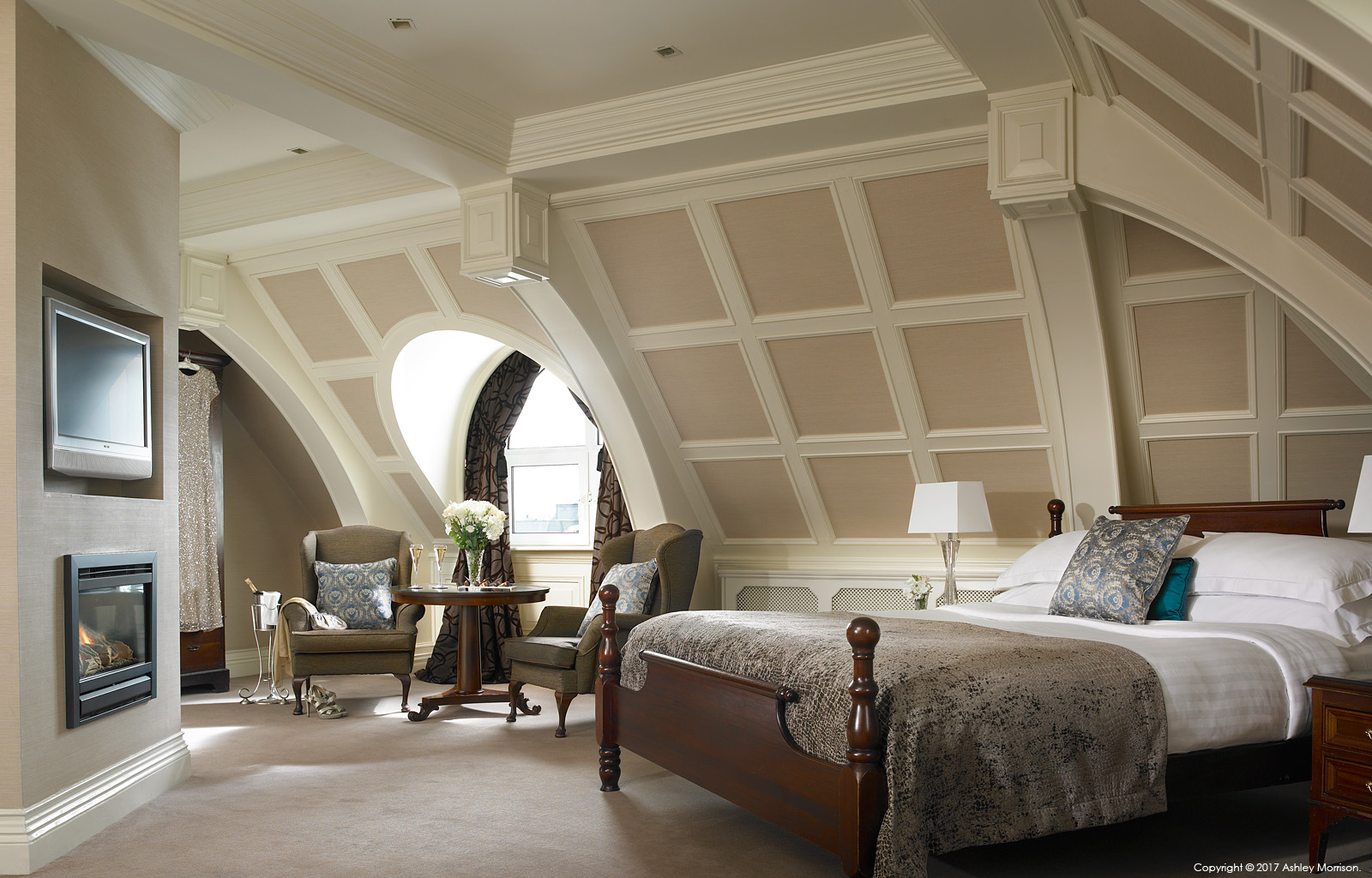The Killarney bedroom Suite in the Killarney Park Hotel in the Irish County of Kerry.