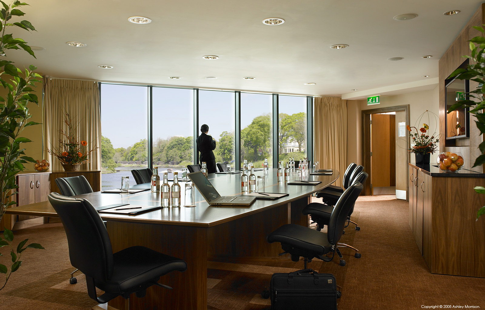 The boardroom at the Carlton Shearwater Hotel in Ireland by Ashley Morrison.