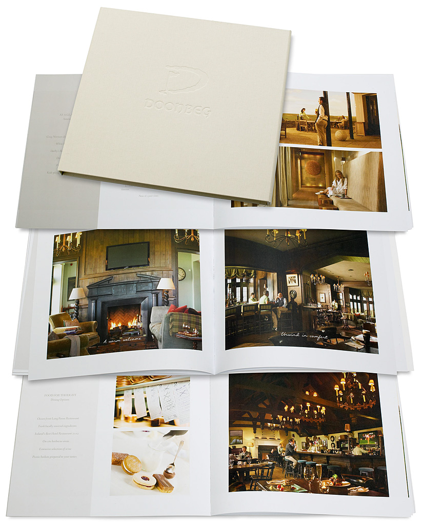 "Media use: Brochures - The Lodge at Doonbeg's book called ""A Place Called Home""."