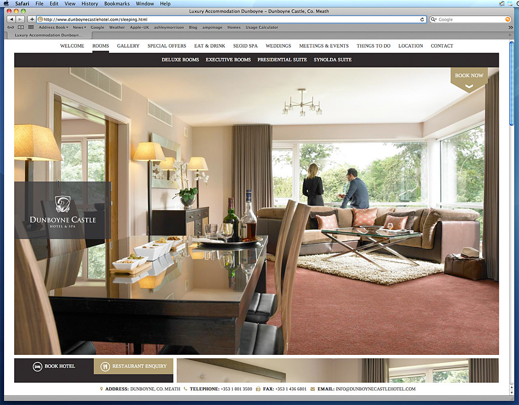 The Presidential Suite page on Dunboyne Castle Hotel's website.