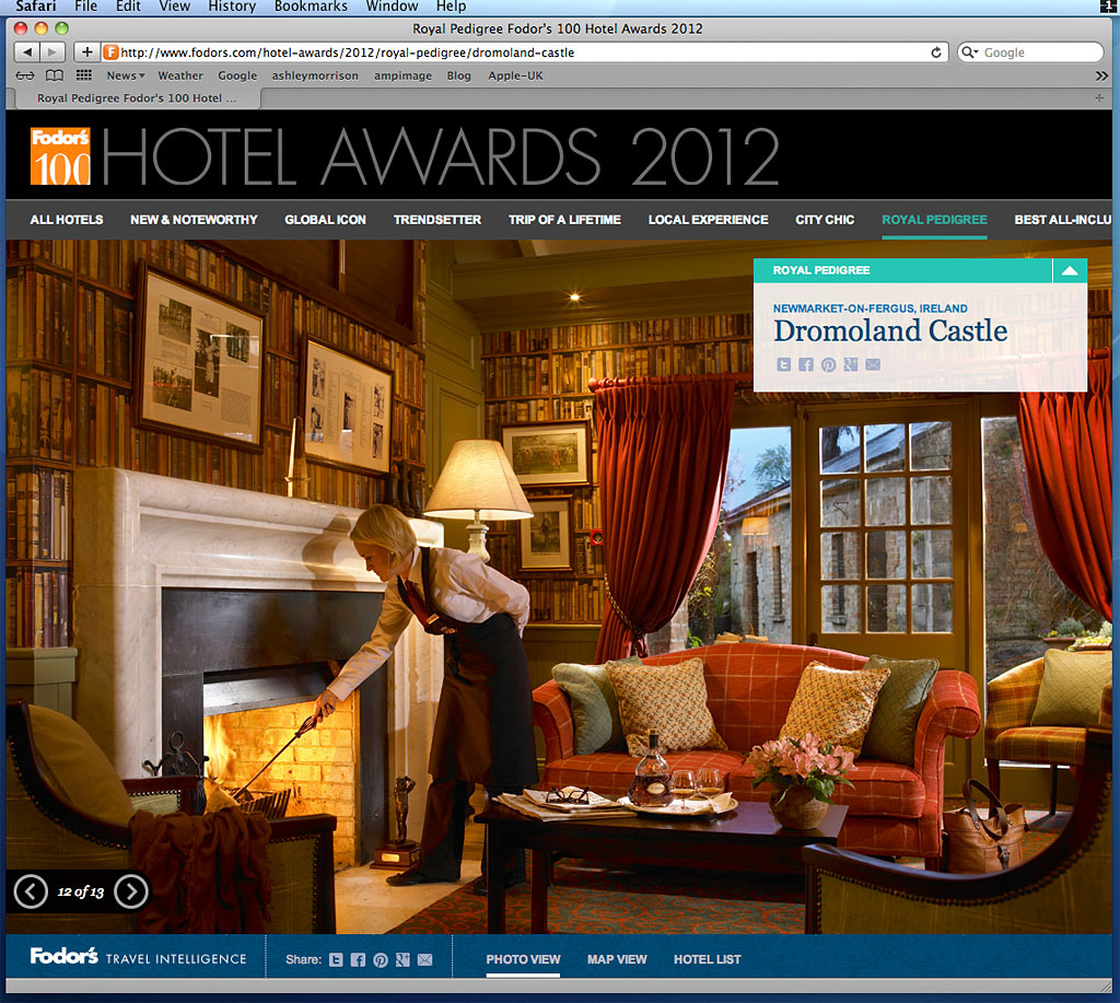 Screen shot of the 2012 fodors 39 top 100 hotels in the for Top 100 hotels