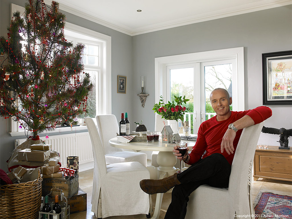 Seamus Sweeney in his cottage style bungalow near Holywood in County Down.